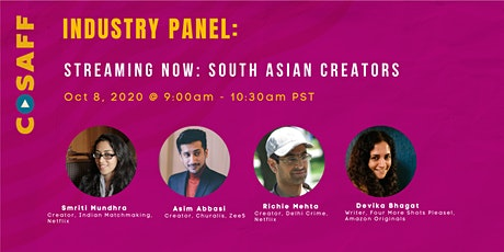 CoSAFF Industry Panel - Streaming Now: South Asian Creators tickets
