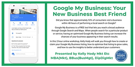 Google My Business: Your New Business Best Friend tickets