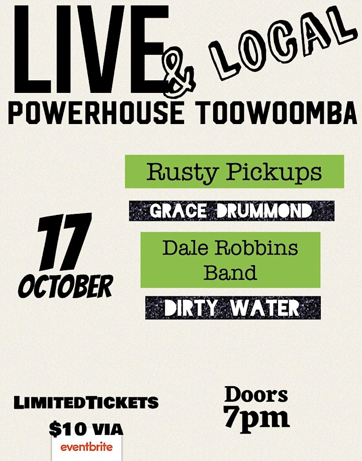 Live & Local at The Powerhouse - Toowoomba's Iconic LIVE venue is rocking ! image