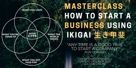 Masterclass: How to start a business using ikigai tickets