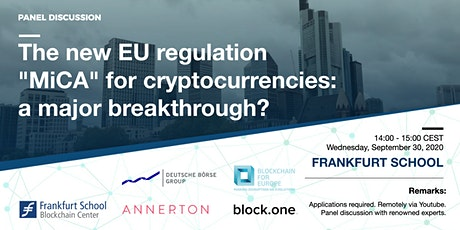 """The new EU regulation """"MiCA"""" for cryptocurrencies: a major breakthrough? tickets"""