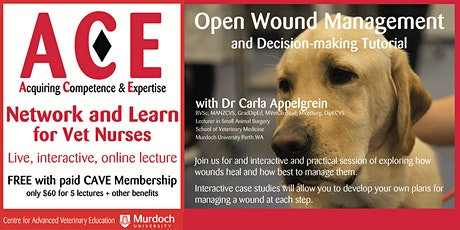 ACE for Nurses: Open Wound Management and Decision-making Tutorial tickets