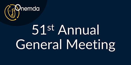 Onemda's 51st Annual General Meeting tickets