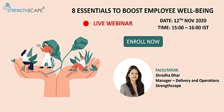 [Free Webinar] 8 Essentials to Boost Employee Well-being tickets