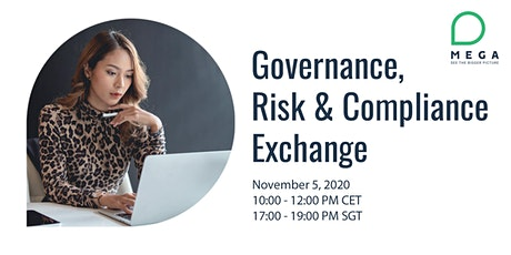 Governance, Risk and Compliance Exchange 2020 tickets