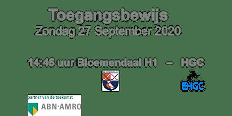 Hoofdklasse wedstrijd HC Bloemendaal zondag 27 september tickets