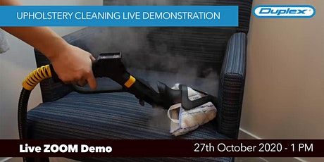 Spring Cleaning ZOOM Demo - Upholstery Cleaning tickets