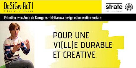 Master Class - Aude De Bourgues - La vi(ll)e durable et créative billets