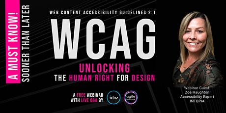 WCAG (Web Content Accessibility) - Unlocking the human right for design tickets