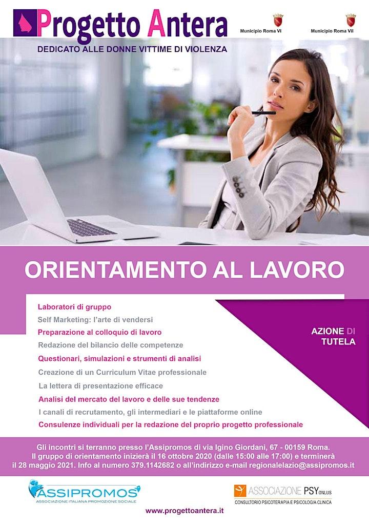 Immagine GRUPPO ORIENTAMENTO AL LAVORO - PROGETTO ANTERA - GRATUITO