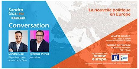 Conversation sur l'Europe avec Sandro Gozi billets