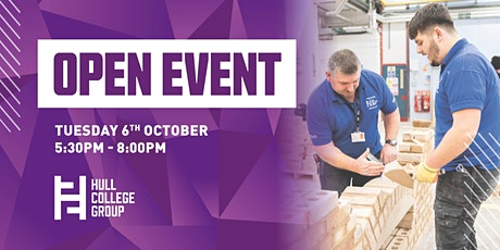 Hull College Open Event - 6th Oct tickets