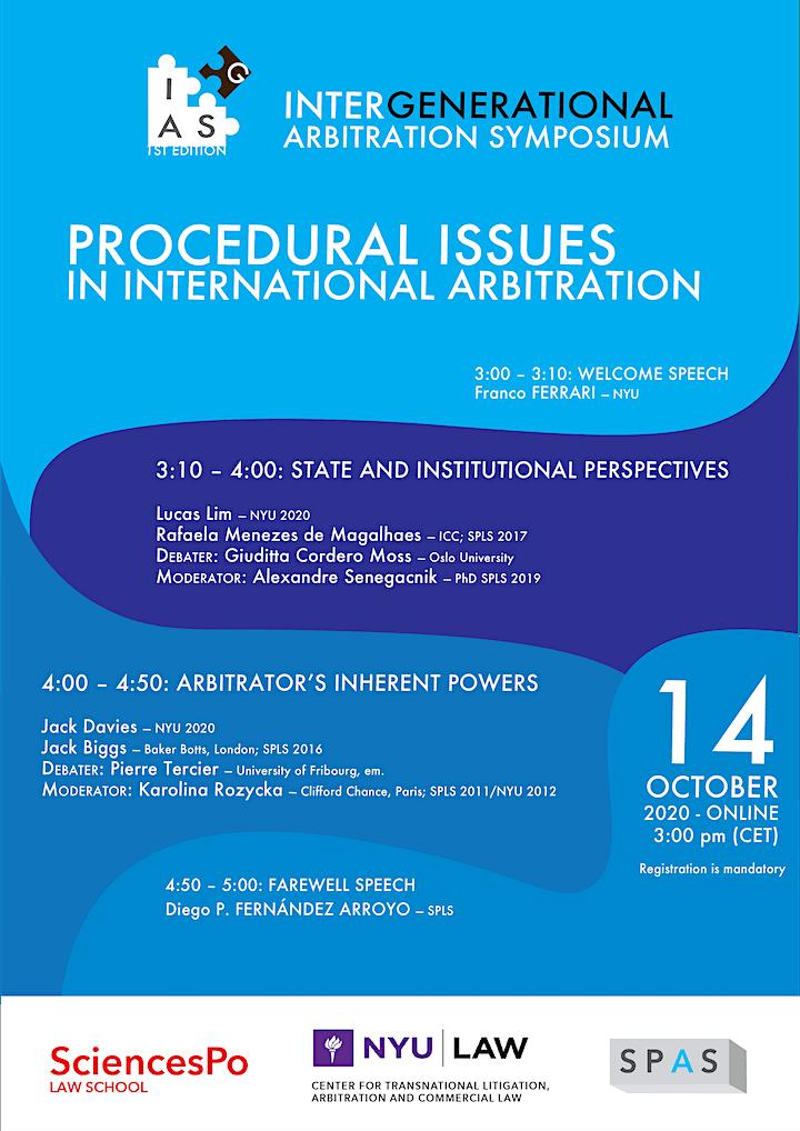 Intergenerational Arbitration Symposium (1st Edition) image