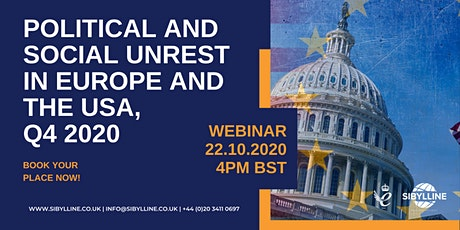 Political and Social Unrest in Europe and the US, Q4 2020 tickets