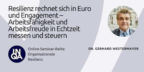 Resilienz rechnet sich in Euro und Engagement Tickets