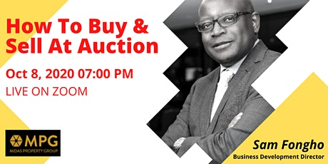 8th October Midas Evening Event - How To Buy & Sell At Auction tickets