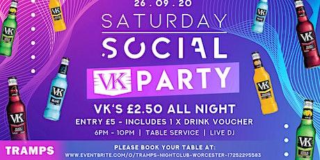 Saturday Social VK Party tickets