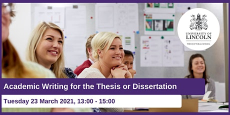 Academic Writing for the Thesis or Dissertation tickets