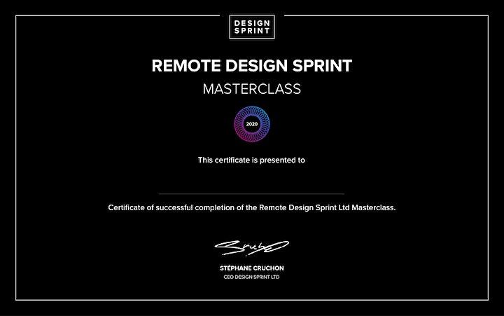 4 -day Remote Design Sprint Masterclass  with certificate Design Sprint Ltd image