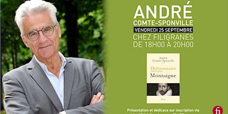 Rencontre avec André Comte-Sponville billets
