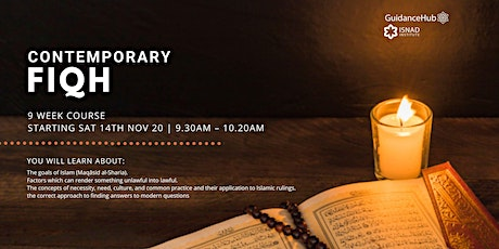 Contemporary Fiqh - (Every Sat from 14th Nov | 9 Weeks | 9:30AM) tickets