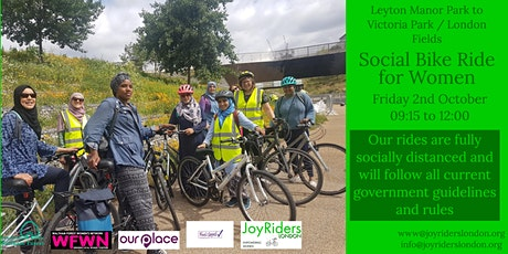 Social Bike Ride for Women from Leyton Manor Park to Victoria Park tickets