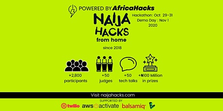 NaijaHacks 2020: NaijaHacks from home tickets