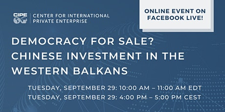 Democracy For Sale? Chinese Investment in the Western Balkans tickets