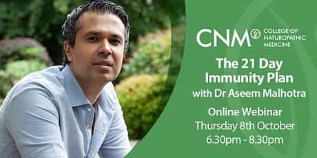 The 21-Day Immunity Plan by Dr Aseem Malhotra tickets