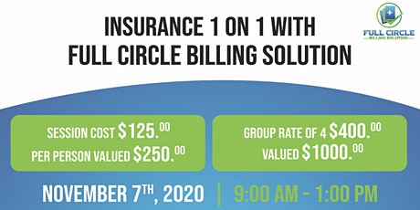 Insurance Verification 1 on 1 with Full Circle Billing Solution tickets