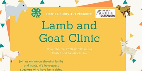 2020 Lamb and Goat Clinic tickets