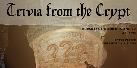 Trivia from the Crypt: A Virtual Halloween History Trivia Night! tickets