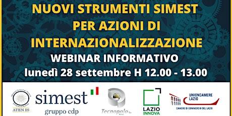 Nuovi strumenti SIMEST per azioni di internazionalizzazione biglietti