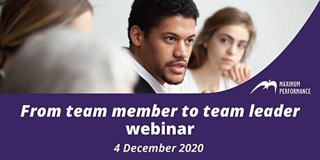 From team member to team leader  (4th December 2020) tickets