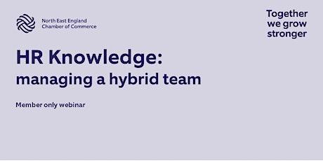 HR Seminar - Managing a Hybrid Team tickets