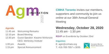 The Canadian Mental Health Association (CMHA) Toronto 2020 AGM tickets