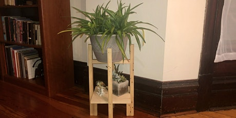 Dykes With Drills: Building At Home Virtual Workshop (Plant Stand) tickets