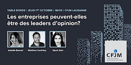 Les entreprises peuvent-elles être des leaders d'opinion? billets