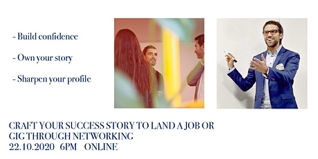 Craft your success story to land a job or gig through networking tickets