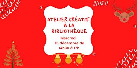 Atelier créatif de Noël billets