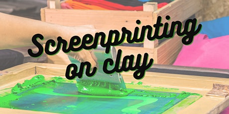 Screen printing on clay tickets