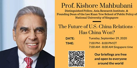 The Future of U.S.-China Relations - Has China Won? tickets