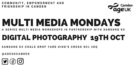 Photography-Multimedia Mondays with Age UK Camden tickets