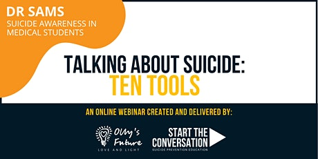 DR SAMS - Talking about Suicide: Ten Tools - online training tickets