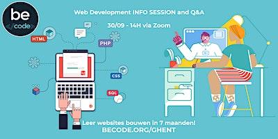 Webontwikkelaar Opleiding – Infosessie by BeCode Ghent