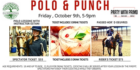 POLO  and PUNCH! Be a Spectator or Ride. tickets