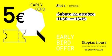 Utopian Hours Slot #1 Morning – Sabato 24 ottobre (11.30-13.15) biglietti