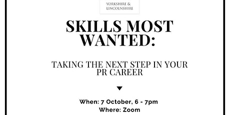 Skills most wanted: Taking the next step in your PR career tickets