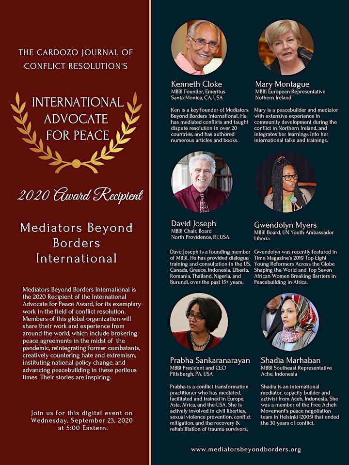 International Advocate for Peace Award Ceremony image
