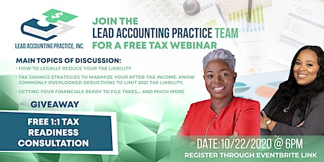 Tax Planning Webinar tickets